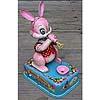 Pink tin bunny